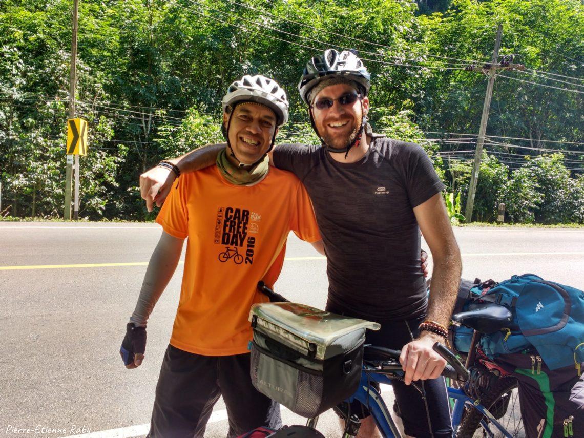 Voyageur solitaire à vélo