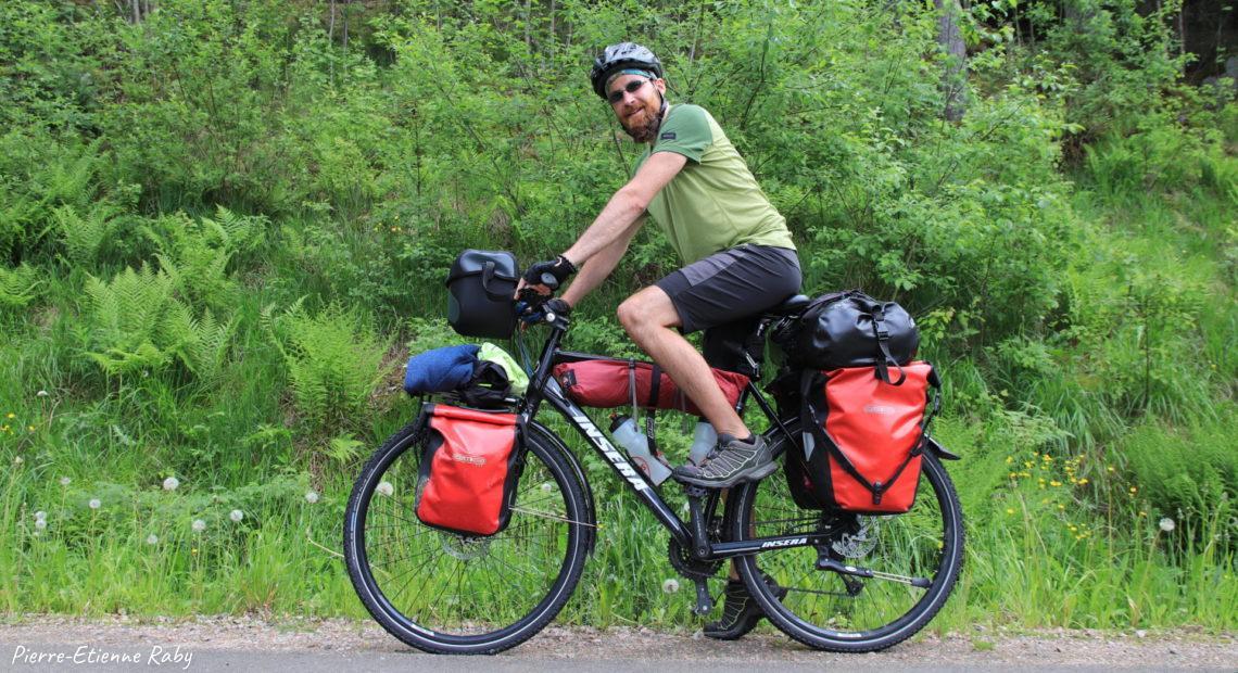 Voyage solitaire à vélo Pierre-Etienne Raby