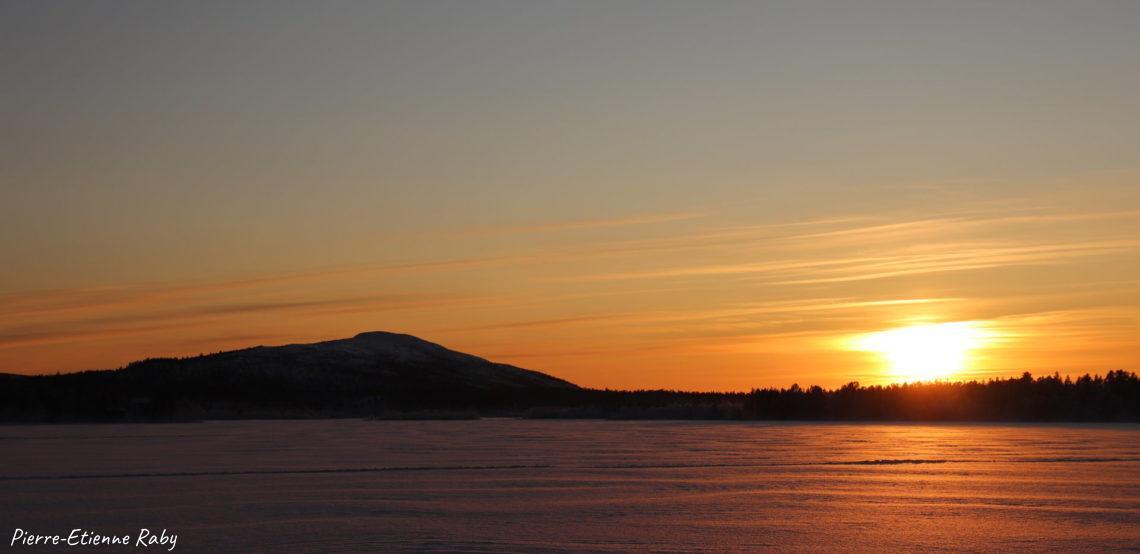 coucher de soleil lumière