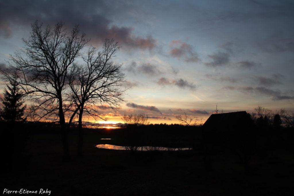 nature coucher soleil lettonie