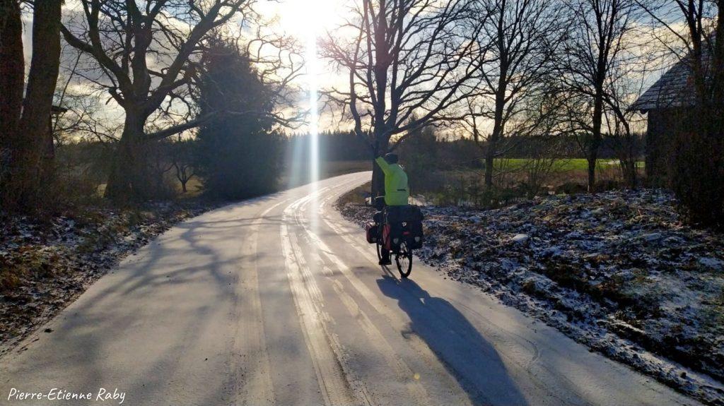 vélo neige glace passé